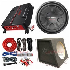 "COMBO Pioneer - GM-A3702 Amplifier + TS-311S4 12""Sub +Sub Box + ST8G Amp Kit"