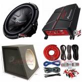 "COMBO Pioneer - GM-A3702 Amplifier + TS-311D4 12""Sub +Sub Box + ST8G Amp Kit"