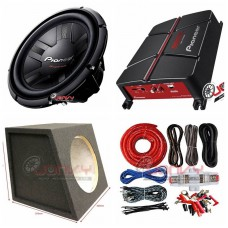 "COMBO Pioneer - GM-A3702 Amplifier + TS-311D4 12""Sub +Sub Box + ST8G Amp Kit"