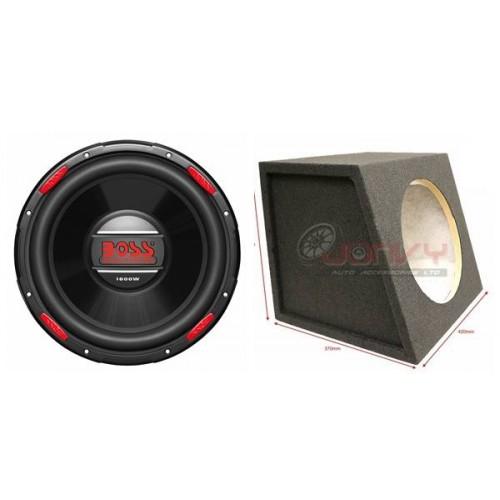 Combo Boss Ar120dvc 12 Subwoofer Dual Voice Coil 4 Ohm 1600w 12 Sub Box