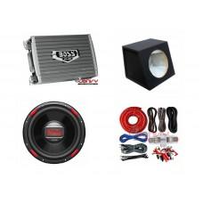 "COMBO BOSS - AR1200.2 Amplifier + AR120DVC 12"" Sub + Sub Box + ST8G Wiring Kit"