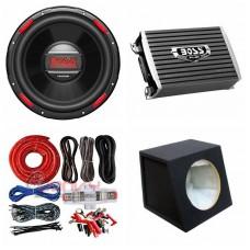 "COMBO BOSS - AR1500M Amplifier + AR120DVC 12"" Sub + Sub Box + ST8G Wiring Kit"