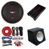 """COMBO Cerwin-Vega - H71000.2 Amplifier + H7104D 10""""Sub + Sub Box + ST8G Amp Kit"""