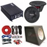 "Combo Pioneer - DK600 Amplifier +TS-W311S4 12""Sub + Sub Box + ST8G"