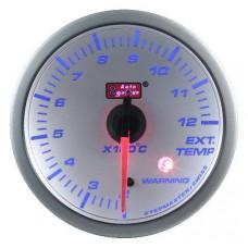 AUTOGAUGE 60MM EXHAUST GAS TEMP GAUGE - WHITE FACE