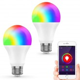 Smart WIFI LED Light Bulbs(WB3) Multi-Color, Dimmable, No Hub Required, Free APP