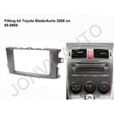 Fitting Kit - (95-8866) for Toyota Blade/Auris 2008 On (Double DIN) - BLACK