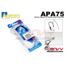 Aerpro APA75 Antenna Adaptor for Toyota 09 up to Male DIN