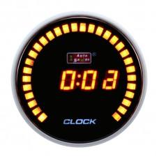 "AUTOGAUGE 2"" DIGITAL CLOCK AMBER 30 AMBER LED"