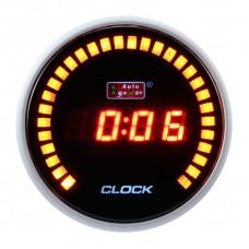 "AUTOGAUGE 2"" DIGITAL CLOCK RED LED & 30 AMBER LED"
