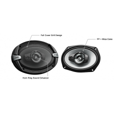 "JVC CS-DR693 6x9"" 3-Way 500W Coaxial Speakers"