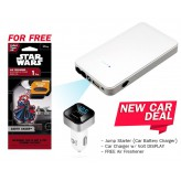 New Car DEAL Jump Starter + Charger w/ Volt DISPLAY + FREE Air Freshener