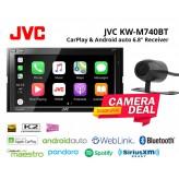 "Combo JVC - KW-M740BT 6.8"" Bluetooth Receiver CarPlay Android auto + Camera"