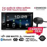 "Combo Kenwood - DDX4018BT 6.2"" DVD Bluetooth 13-band EQ Spotify + Camera"