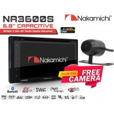 "Combo Nakamichi - NA3600S 6.8"" DVD Receiver Bluetooth DVD USB + Camera"