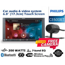"""Combo Philips - CE600BT 6.8"""" WVGA DSP Wireless Browse Bluetooth + Camera"""