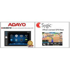 ADAYO CE4M01D DVD receiver COMBO DEAL ( HEAD UNIT + LICENSED MAP )