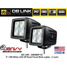 "DB LINK 4"" 12W CREE LED OFF-ROAD Flood Work Lights"