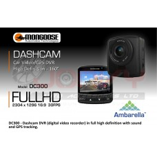 MONGOOSE DC300 Full HD Car Video Recorder with GPS - DISPLAY unit