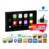 """Combo Planet Audio - PCP9800A 6.75"""" Apple Carplay Android Auto Bluetooth + Cam"""