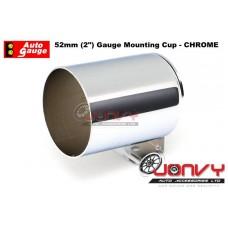 "Autogauge 52mm (2"") Gauge Mounting Cup - CHROME"