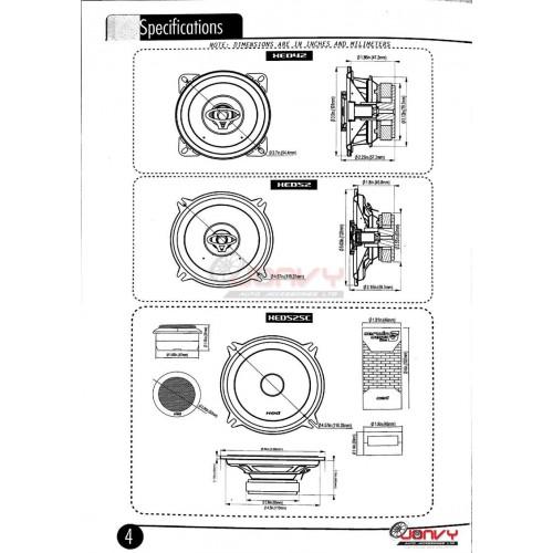"""Cerwin-Vega XED525C 300W 5.25/"""" 2-Way Component Speaker Metal Dome CV Tweeter"""