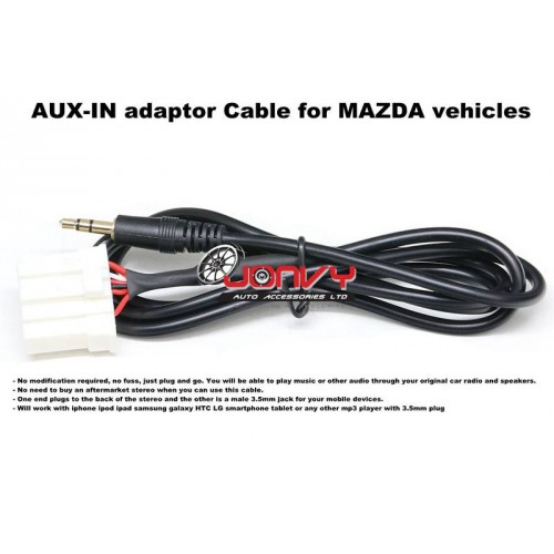 AUX-IN adapter Cable for MAZDA vehicles