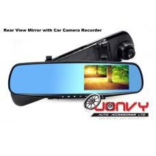 "4.3"" Rear View Mirror Car Video Camera Recorder - Free Rear Camera"