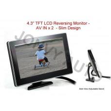 "4.3"" TFT LCD Reversing Monitor - AV IN x 2 with stand"