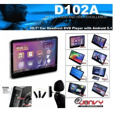 """D102A 10.1"""" Car Headrest DVD Player with Android 5.1"""