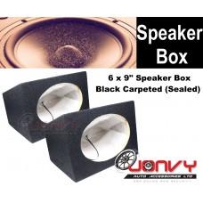 "6 x 9"" Speaker Box - Black Carpeted (Sealed)"