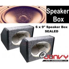 "6 x 9"" Speaker Box - Grey Carpeted (Sealed)"