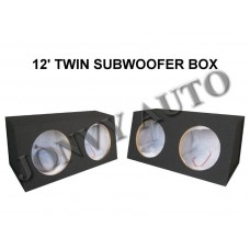 "12"" Twin Subwoofer Box (sealed)"