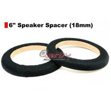 """6"""" Speaker Spacer (18mm) - ONE PAIR"""