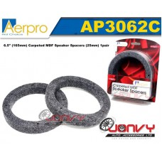 """Aerpro  6.5"""" Carpeted MDF Speaker Spacers (25mm)"""